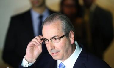 O deputado Eduardo Cunha (PMDB-RJ), afastado do mandato por decisão do STF Foto: Andre Coelho / Agência O Globo / 5-5-2016