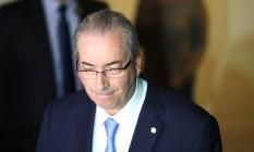 O deputado suspenso Eduardo Cunha: alguns aliados defendem renúncia Foto: Andre Coelho / Agência O Globo