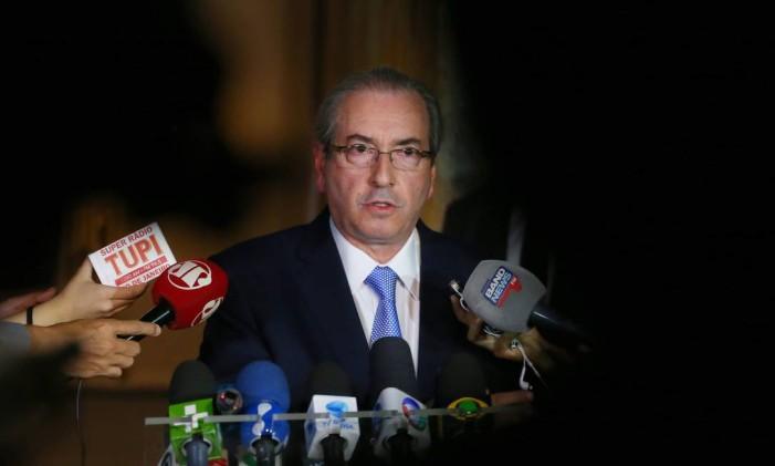 O deputado afastado Eduardo Cunha (PMDB-RJ) Foto: Ailton Freitas / Agência O Globo / 5-5-2016