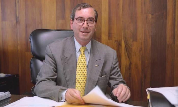 Eduardo Cunha, então presidente da Cehab Foto: Guilherme Pinto 28.10.1999