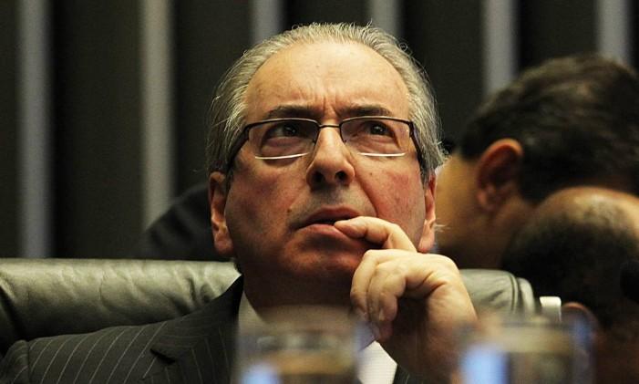 O deputado federal afastado Eduardo Cunha Foto: Jorge William / Agência O Globo 17/04/2016