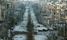 Região de Aleppo destruída pela guerra Foto: Hosam Katan / Reuters