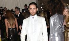 Jared Leto no baile de gala do Met Foto: Evan Agostini / Evan Agostini/Invision/AP