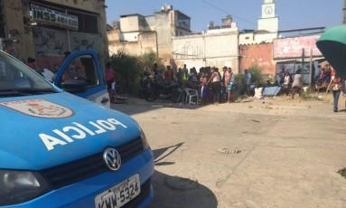 Moradores foram retirados de terreno da prefeitura Foto: Márcio Menasce / Agência O Globo