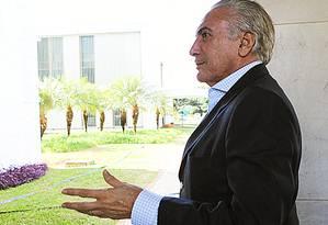 Michel Temer Foto: Jorge William / Agência O Globo