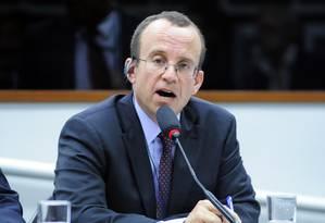 O advogado geral do WhatsApp, Mark Kahn, veio ao Brasil para reuniões com policiais e promotores estaduais e federais Foto: Câmara dos Deputados / Alex Ferreira