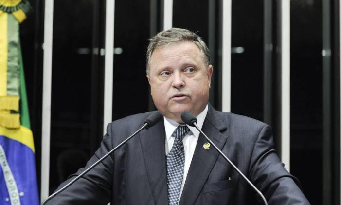 O senador Blairo Maggi (PR-MT) na tribuna do Senado Foto: Pedro França/Agência Senado