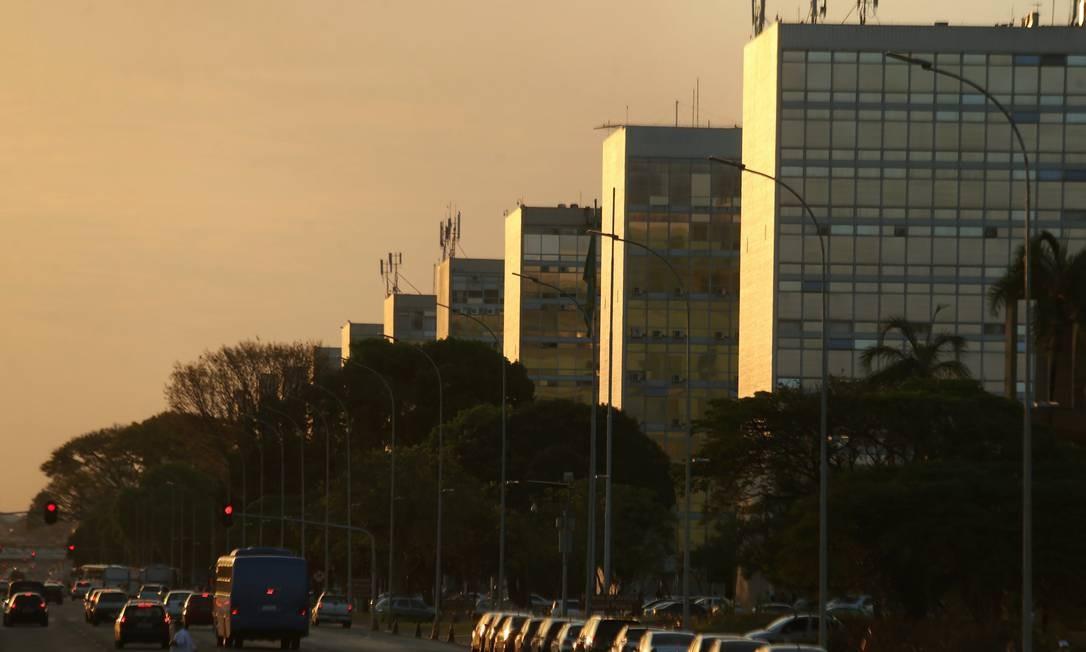A Esplanada dos Ministérios em Brasília Foto: Jorge William / Agência O Globo /Arquivo