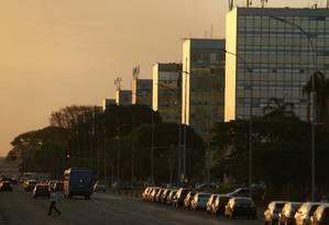 A Esplanada dos Ministérios em Brasília Foto: Jorge William / Agência O Globo / 21-9-2015