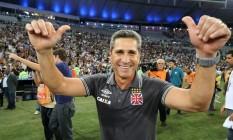 Jorginho conquistou com o Vasco seu primeiro título como técnico no Brasil Foto: Marcelo Theobald / Agência O Globo