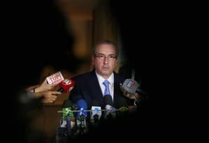 Eduardo Cunha (PMDB-RJ), deputado afastado da presidência da Câmara. Foto: Ailton Freitas / Agência O Globo
