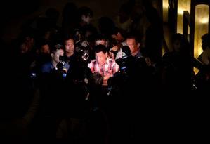 Duterte: vitória nas Filipinas Foto: NOEL CELIS / AFP