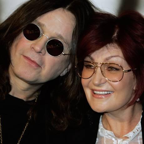 Ozzy e Sharon Osbourne, em foto de 2007 Foto: HECTOR MATA / AFP