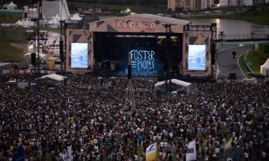 Edição de 2016 do Lollapalooza Foto: Lucas Tavares / Agência O Globo