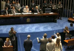 O plenário do Senado nesta segunda-feira Foto: Jorge William / Agência O Globo / 9-5-2016