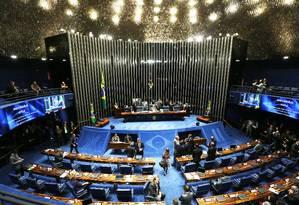 Plenário do Senado Federal Foto: Jorge William / Agência O Globo 09/05/2016