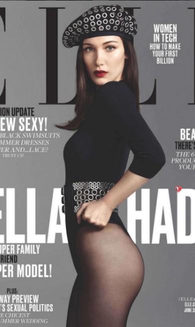 """A capa foi compartilhada com seus 4.2 milhões de seguidores: """"Muito animada em anunciar minha primeira capa da Elle americana"""" Instagram"""