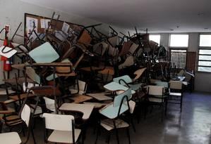 Sala na Universidade Federal Fluminense, no Rio, em 2015: após ter três titulares em menos de 1 ano, ministério agora está sendo negociado para o DEM Foto: Eduardo Naddar/26-5-2015