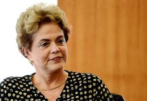 A presidente Dilma Rousseff Foto: Evaristo Sá / AFP / 10-5-2016