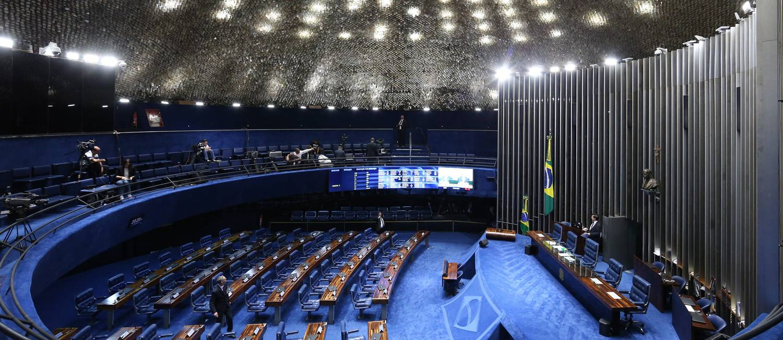 O plenário do Senado Federal Foto: André Coelho / Agência O Globo 10/05/2016