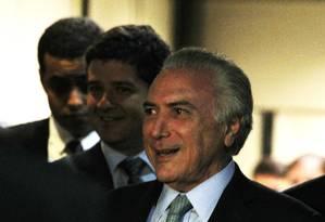 O vice-presidente Michel Temer Foto: Jorge William / Agência O Globo / 26-4-2016