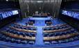 O plenário do Senado vazio antes da votação do impeachment da presidente Dilma Rousseff