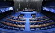 O plenário do Senado vazio