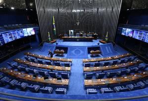 O plenário do Senado vazio Foto: André Coelho / Agência O Globo