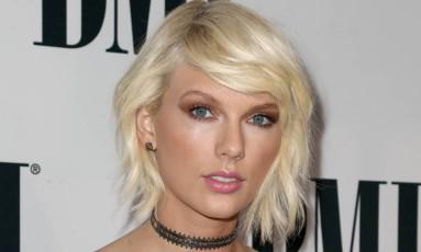 Taylor Swift na cerimônia de entrega do prêmio BMI Pop Awards em Beverly Hills, na Califórnia Foto: John Salangsang / John Salangsang/Invision/AP