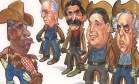 """Impasse. Na charge de Chico Caruso, ironia sobre as dívidas dos estados com o governo federal: """"Vencerá quem conseguir sacar primeiro... um cheque!"""" Foto: Chico Caruso - 06/01/1999"""