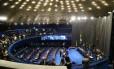 Senadores se reúnem para votação do processo de impeachment da presidente Dilma Rousseff