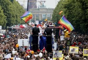 Parada gay de Berlim é uma das maiores do mundo Foto: Reuters