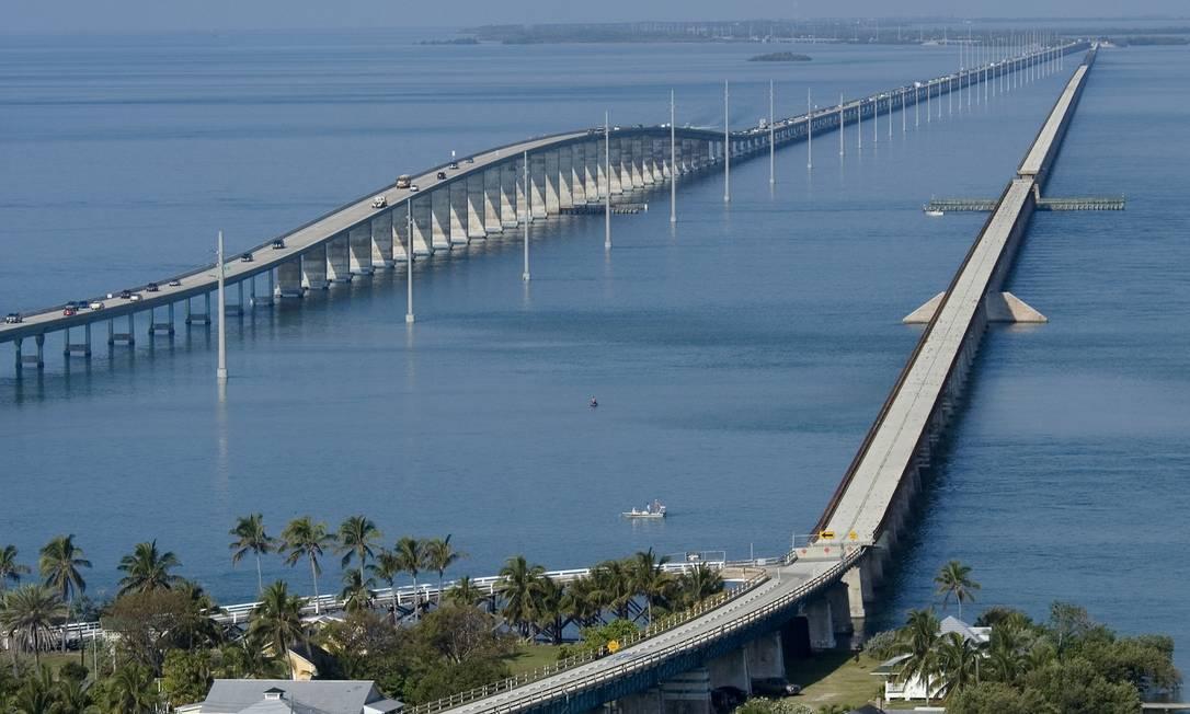A Seven Mile Bridge, em Marathon, uma das ilhas do sul da Flórida Foto: Divulgação/Visit Florida / Andy Newman/Florida Keys News Bu