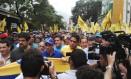 Opositor Henrique Capriles lidera marcha em Caracas Foto: Reprodução Twitter