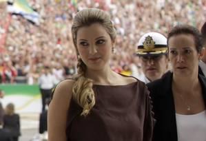 Marcela Temer durante a posse do marido Michel Temer como vice-presidente em 2011 Foto: RICARDO MORAES / REUTERS / 1-1-2011