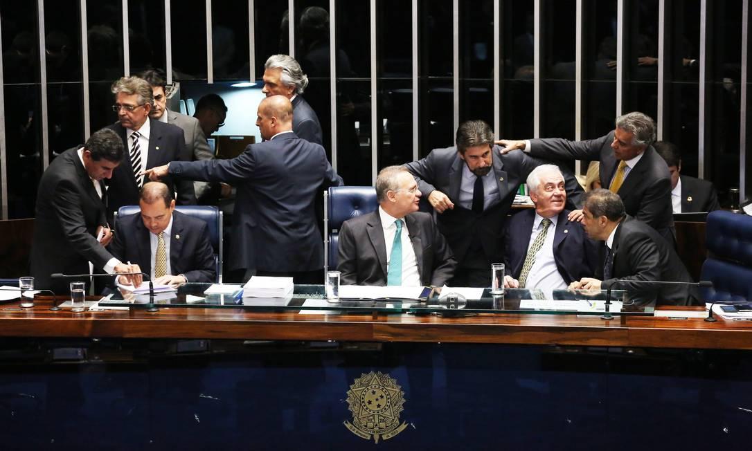 Votação do impeachment da presidente Dilma Rousseff no plenário do Senado Federal Jorge William / Agência O Globo