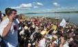 """Caravana. Lula nas margens do Rio São Francisco: """"partido da ética"""" prometia não roubar"""