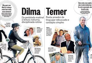 Estilos de Dilma e Temer Foto: Reprodução