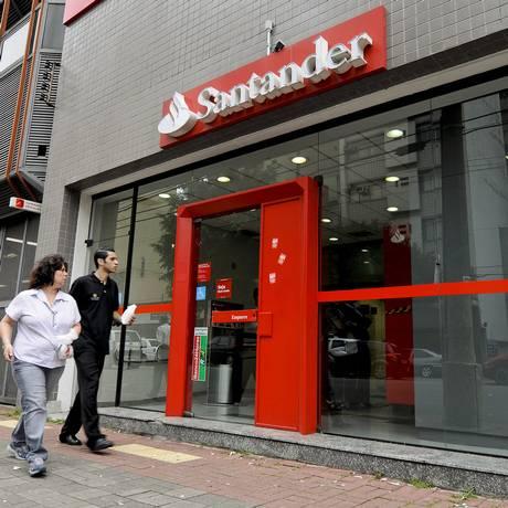 Agência do Santander Foto: Paulo Fridman / Bloomberg