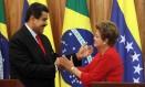 Nicolás Maduro publicou em seus perfis nas redes sociais trechos do discurso da presidente afastada Dilma Rousseff nesta quinta-feira Foto: Givaldo Barbosa 09-05-2013 / Agência O Globo