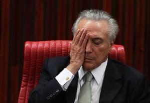 O presidente interino, Michel Temer Foto: Jorge William / Agência O Globo / 12-5-2016