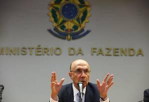 Entrevista coletiva do ministro da Fazenda Henrique Meirelles Foto: Ailton Freitas / Agência O Globo