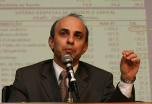 Tarcísio Godoy em 2007, na época secretário do Tesouro Nacional. Atualmente, é secretário-executivo do Ministério da Fazenda Foto: Roberto Stuckert Filho / Roberto Stuckert Filho