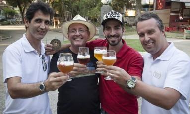 Alguns dos cervejeiros que estarão no evento na Praça Nilo Peçanha Foto: Analice Paron