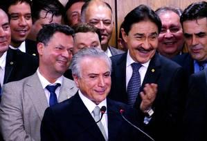 Glycon Júnior ao lado de Temer Foto: Agência O Globo
