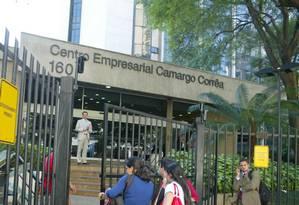 Sede da Camargo Corrêa, em São Paulo Foto: Odival Reis/Agência O Globo/25-03-2009