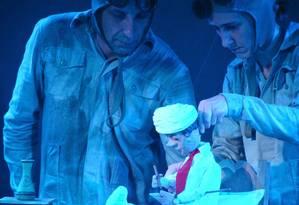 Guilherme Peixoto (à esquerda) criticou o fim do MinC em espetáculo infantil Foto: Divulgação