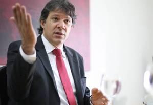 O prefeito de São Paulo, Fernando Haddad (PT) Foto: Marta Watanabe / Valor / 12-11-2015