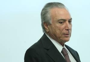 O presidente interino Michel Temer Foto: André Coelho / Agência O Globo / 16-5-2016