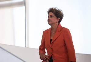 A presidente afastada, Dilma Rousseff Foto: André Coelho / Agência O Globo / 4-5-2016